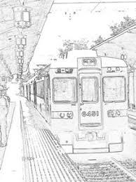 20006 Colorsheet Kyoto Hankyu Arashiyama Line Trains Coloring Pages