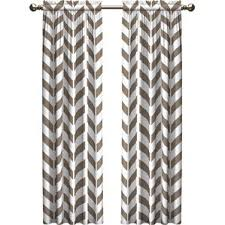 Grey And White Chevron Curtains by Brown Chevron Curtains U0026 Drapes You U0027ll Love Wayfair