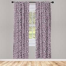 gardine fensterbehandlungen 2 panel set für wohnzimmer schlafzimmer dekor abakuhaus leopard druck girly rosa schwarz kaufen otto