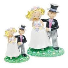 Comical Bride Groom Figurine Wedding Cake Topper