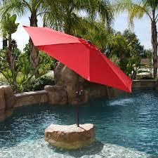 9 Ft Patio Umbrellas With Tilt by 9 U0026 039 Ft Steel Outdoor Patio Umbrella Market Yard Beach W Crank