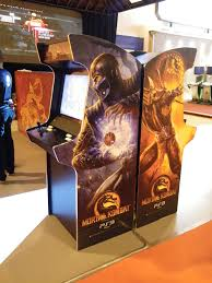 Mortal Kombat Arcade Cabinet Plans by Mortal Kombat 9 Arcade Machine For Warner Bros Bespoke Arcades