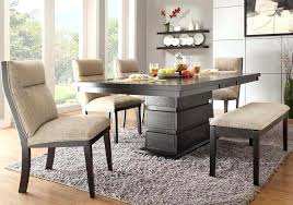 Round Table With Bench Seat Dining Tables Benches Corner Kitchen Black Finished Of Rectangle Wooden Height