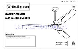 Intertek Ceiling Fan Manual by Westinghouse Ventiladores En El Techo Urban Gale 52 Inch Three
