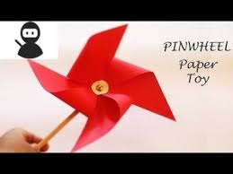 How To Make Paper Pinwheel Windmill