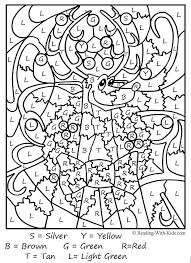 Adult Christmas Coloring Pages Resume Format Pdf Color By Letter Reindeer Pagechristmas Page