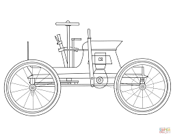 Click The Antique Car Coloring Pages