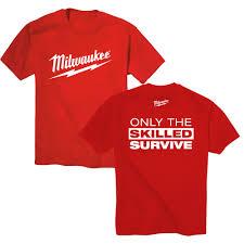 Milwaukee Tool United Kingdom Power by Milwaukee Electric Power Tool M18 M12 Fuel Tee Shirt T Shirt