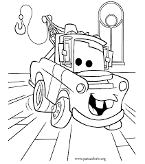 Coloring Pages Cute Disney Cars Free Printable