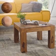 finebuy couchtisch patan 60 x 60 x 40 cm holz massiv massiver wohnzimmertisch quadratisch braun beistelltisch massivholz design holztisch