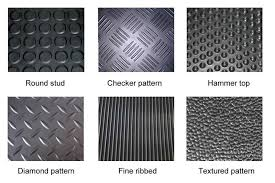 Six Types Of Patterns Are Available For Rubber Garage Floor Mats
