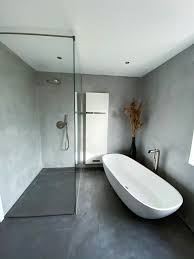 fugenloses bad mit beton ciré raumkonzept trier