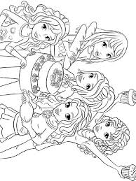 Lego Friends Coloring Pages To Print Free Printable