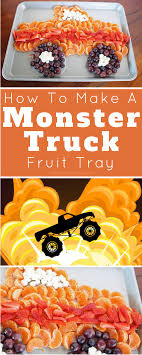 How To Make A Monster Truck Fruit Tray   Asher Party Planning ... Monster Truck Jam Birthday Party Pro Planner Madness Obstacle Combos Tall Slides Secret Tunnels Custom Blaze And The Machines Invitation Cupcakes Kids Parties Wall Scene Setter Majors Decoration Boy Decorations Ideas Ultimate Pack Birthdays In 2018 Pinterest Bounce House Combo Nice Invitations 94 In Design With Theme Grace Giggles Glue Order A Cake At Cold Stone Creamery