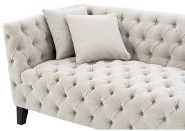 casa padrino luxus chesterfield wohnzimmer sofa mit 4 kissen sandfarben schwarz 217 x 92 x h 78 cm luxus möbel