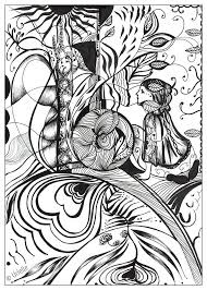 Reflection Of Love From The Gallery Zen Anti Stress Artist Urielle Colouring For AdultsAdult Coloring PagesColoring