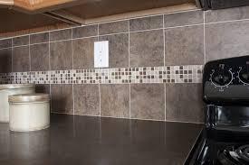 4x4 porcelain tiles w glass mosaic accent white kitchen