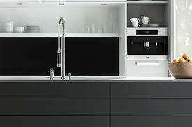 esg glas küchenrückwand in classic schwarz ral 9005