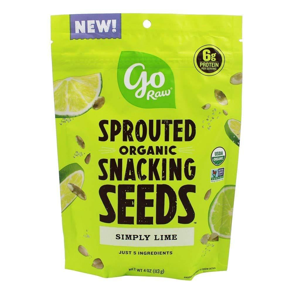 Go Raw Sprouted Organic Snacking Seeds Simply Lime 4 oz.