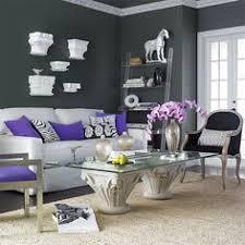 Bold And Modern Gray Purple Living Room Stylish Decoration Ideas