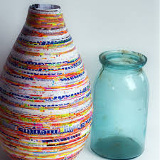 Recycled Paper Crafts Vase