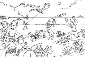 Full Size Of Coloring Pagebeach Page Summer Slipper Beach Pages