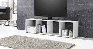 ambiato tv lowboard weiß matt 4 fächer tv schrank
