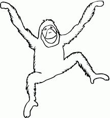 Orangutan Dance Coloring Page