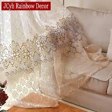 moderne flora tüll vorhänge für wohnzimmer schlafzimmer blau voile gardinen für fenster küchentür vorhang fbric vorhänge
