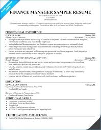 Finance Executive Resume Samples Best Of Auto Manager