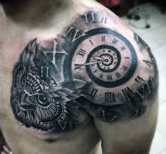 Front Shoulder Tattoo For Men