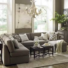 Grey Leather Sectional Living Room Ideas by Furniture Comfy Large Gray U Shaped Sectional Sofa With Within