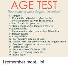 Books Cars And Crazy AGE TEST Ous Many Of These Do You Remember