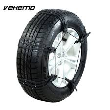 Vehemo Black Snow Tire Belt Tyre Anti-Skid Chains Universal Climbing ...