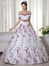 popular red and white ball gown buy cheap red and white ball gown