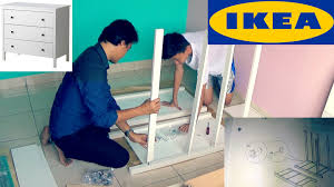 Hemnes 6 Drawer Dresser Assembly by How To Assemble Ikea Hemnes 3 Drawer Chest Youtube
