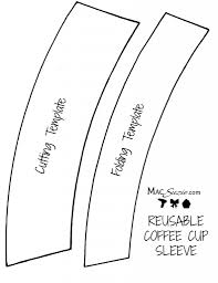 DIY Reusable Coffee Cup Sleeve Free Printable Template