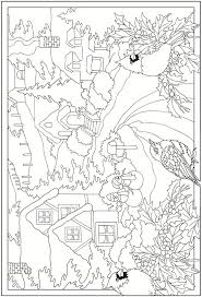 Adult Coloring Page Saved From Creative Haven Winter Scenes Book Dover Publications