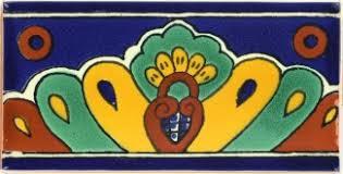2x4 25 blue shell talavera mexican tile