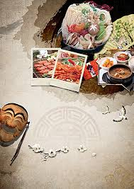 classical cuisine classical cuisine mask printing ink background style