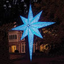 Bethlehem Lights Christmas Tree Instructions by Led Star Of Bethlehem Blue 72 Inch