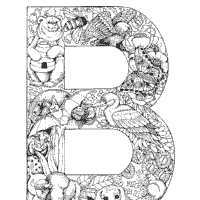 Animal And Plant Alphabet Letter B