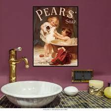 Betty Boop Bathroom Sets by Pears Soap Bath Reproduction Metal Sign Bathroom Decor