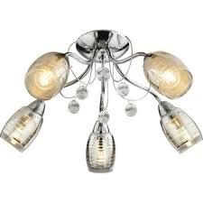 deckenleuchten 5 flg decken leuchte le wohnzimmer chrom
