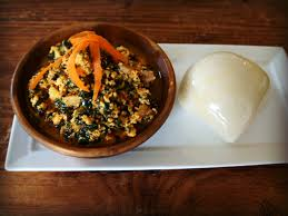 The Traditional Method Of Eating Fufu Is To Pinch Some Off In Ones Right Hand Fingers And Form It Into An Easily Ingested Round Ball