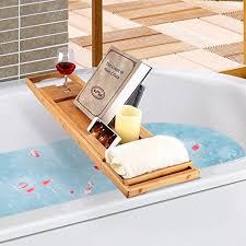 badewanne caddy laptop bett schreibtisch 2 in 1 badewanne tablett integriertem ständer für bücher oder tablets