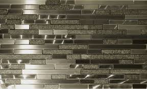 metal and stone random strips backsplash tile mosaic 15 1 2 x12