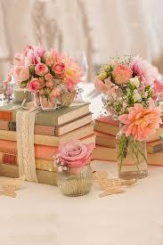 Shabby Chic Vintage Wedding Decor Ideas CenterpiecesVintage Book