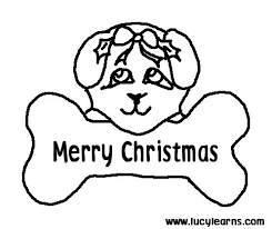 Pet Dog Coloring Pages Free Printable Puppy For Christmas