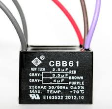 Cbb61 Ceiling Fan Capacitor 2 Wire by Ceiling Fan Capacitor Cbb61 2 5uf 3 5uf 4uf 5 Wire Ebay